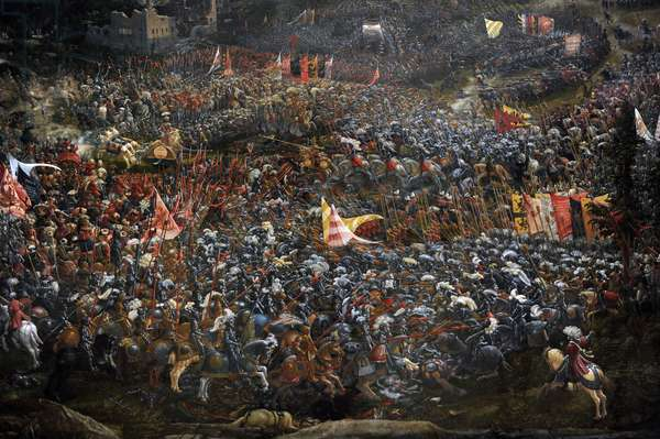The Battle of Alexander at Issus (detail), 1529 (oil on canvas)