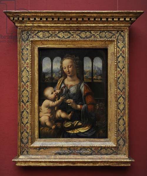 Leonardo da Vinci (1452 – 1519). The Madonna of the Carnation.  1478-1480.