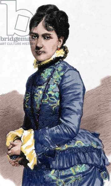 Baroness of Kaula. Engraving. Colored.