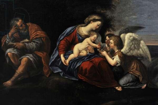 Rest on the Flight into Egypt, ca. 1640, by Francesco Albani (1578-1660). Detail.