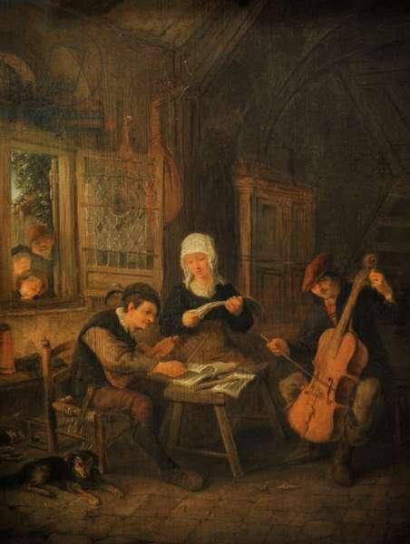 Rural Musicians, 1645, by Adriaen van Ostade (1610-1685).