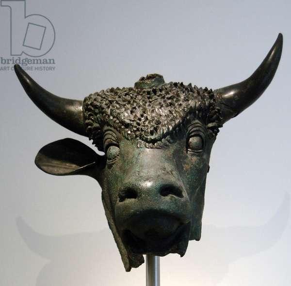 Head of a sacred bull. Bronze. 1st century. Found in Octodure (now Martigny, Switzerland). Metropolitan Museum of Art. New York. United States.