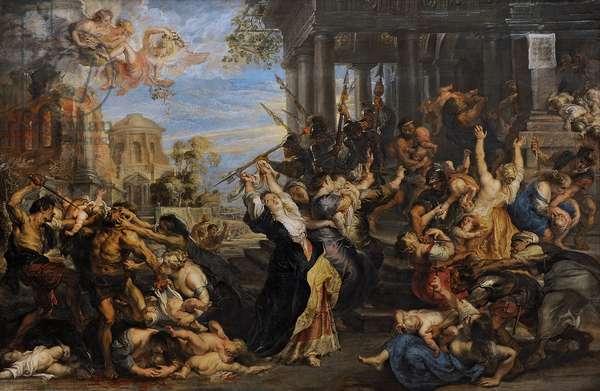 Peter Paul Rubens (1577-1640).  Massacre of the Innocents, 1635-40. Pinakothek. Munich. Germany.
