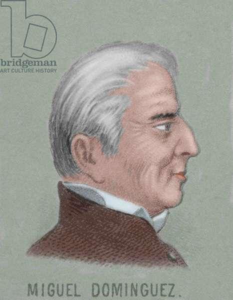 Miguel Dominguez (1756-1830). Mexican lawyer and politician. Portrait (colour engraving)