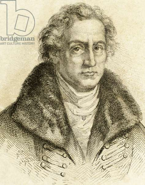 Johann Wolfgang von Goethe (1749-1832). German writer. Engraving19th C.