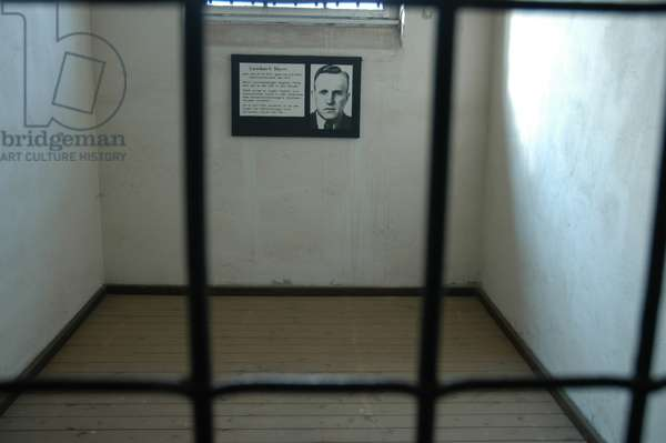 Sachsenhausen concentration camp. Cell. Germany.