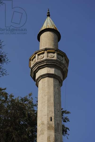 Detail of the minaret from the Mufti-Jami Mosque, Feodosiya, Autonomous Republic of Crimea, Ukraine (photo)