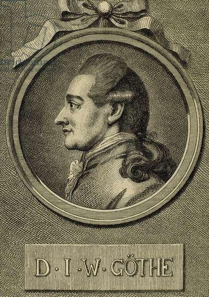 Johann Wolfgang von Goethe (1749-1832). German writer (engraving)
