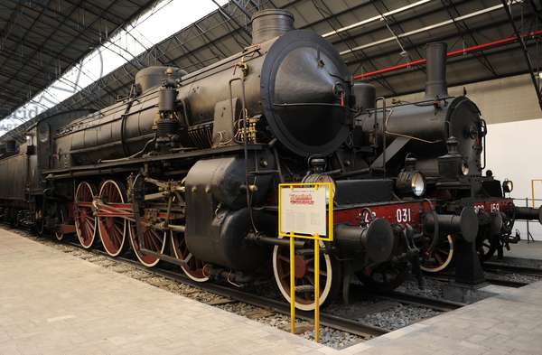 Italy. Milan. National Museum of Science and Technology Leonardo Da Vinci. Steam locomotive. Model GR. 746 F.S. Made in Breda, Milan.