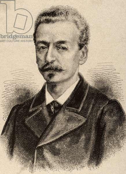Juan Ceballos Gomez (1817-1874). Engraving.