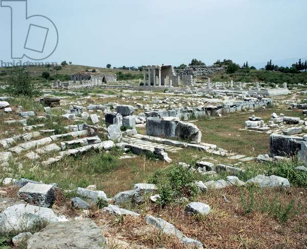 Greek art. Asia Minor. Miletus. The senate building or Bouleuterion, (175-164 BC) and the ionic Stoa on the Sacred Way. Turkey.