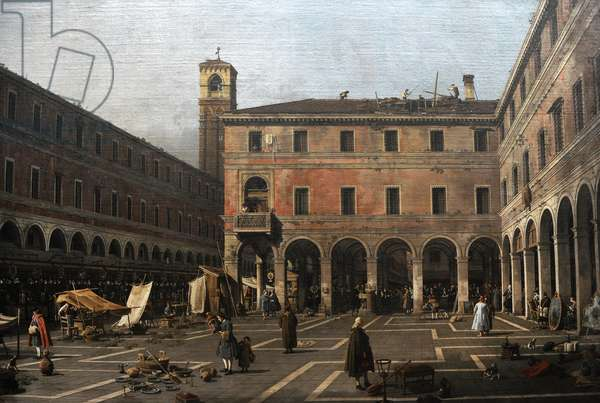 The Campo di Rialto, 1758-1763, by Canaletto (1697-1768).
