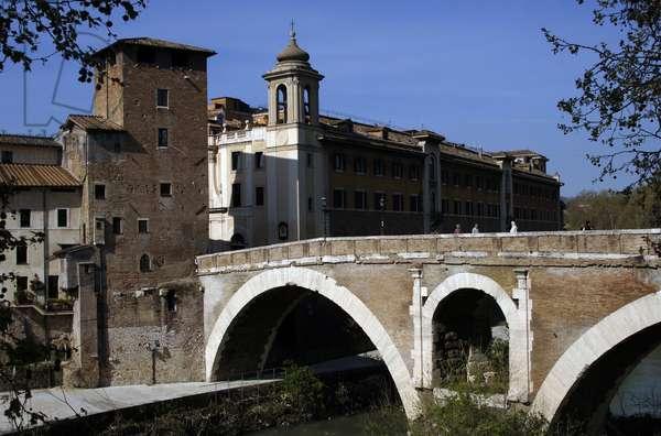 Italy. Rome. Pons Fabricius. 62 BC.