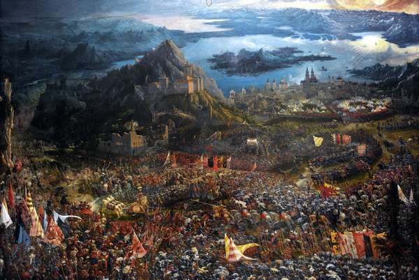The Battle of Alexander at Issus, 1529 (oil on canvas) .