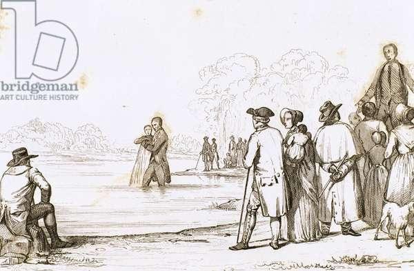United States. Virginia. Anabaptist Baptism