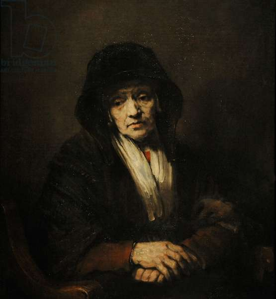 Portrait of an Old Woman, 1654, by Rembrandt Harmenszoon van Rijn (1606-1669).