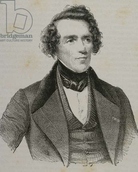Giacomo Meyerbeer (1791-1864). German composer. Portrait (engraving)