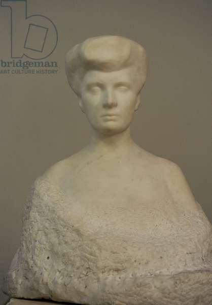 Auguste Rodin (1840-1917). Portrait of Varvara Yeliseyeva, 1906. Marble.