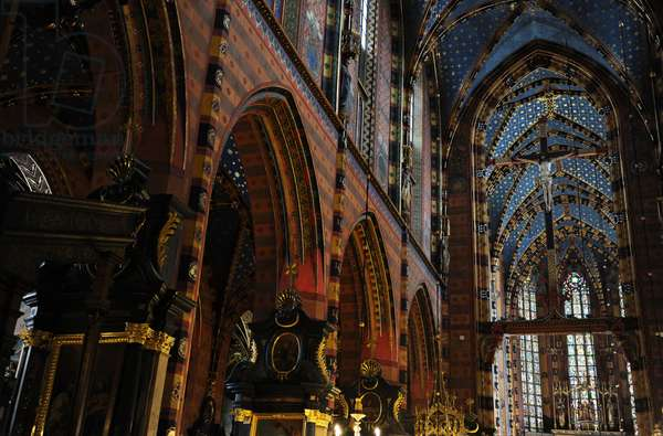 Gothic Art. Poland. Wawel Cathedral. Built between 1320 and 1364. Interior. Krakow. UNESCO World Heritage Site.