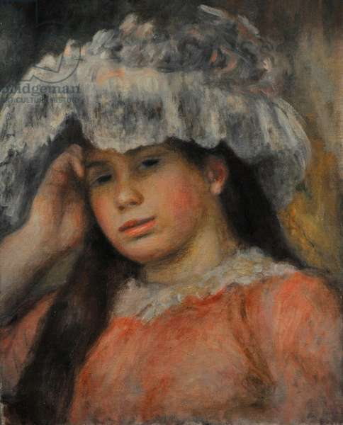 Young Girl in a Hat, c.1892 (oil on canvas)