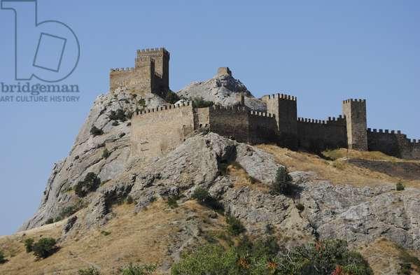 Ukraine. Autonomous Republic of Crimea. Sudak. Genoese medieval Fortress.