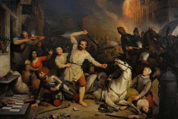 Ferdinand de Braekeleer the Elder (1792-1883). Fury of the French in Antwerp, 1827-1846.