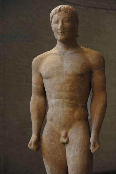 Munich Kouros. About 540 BC. Statue of a youth. Glyptothek. Munich. Germany.