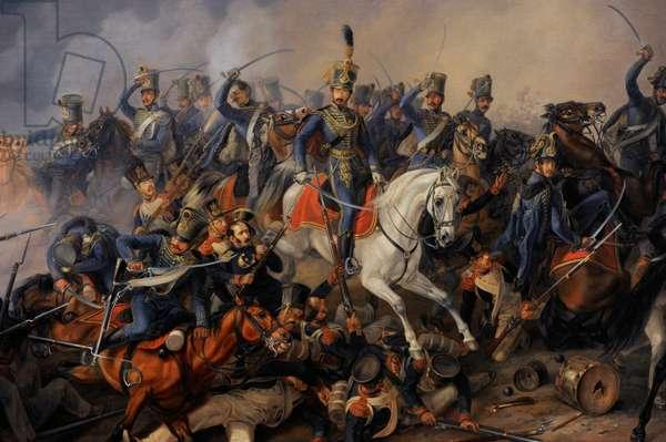 Albrecht Adam (1786-1862). Battle Scene, 1838. Detail.
