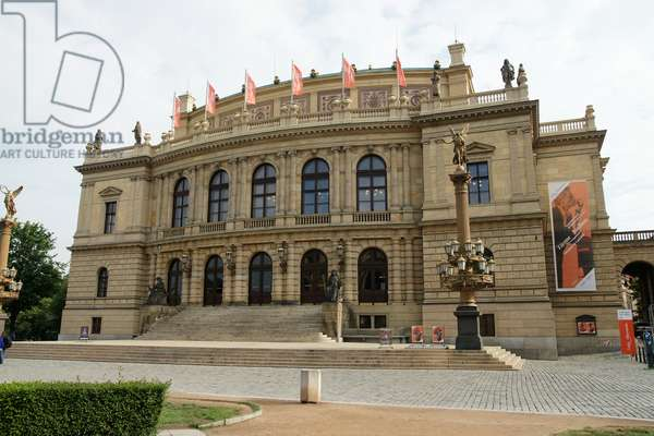 Czech Republic. Prague. The Rudolfinum., 1885.