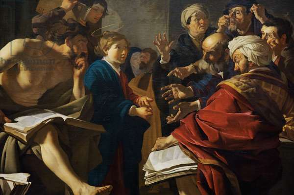 Christ among the Doctors, 1622, detail