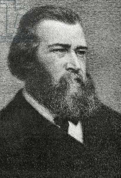 Portrait of Jean-Franc?ois Millet (engraving)