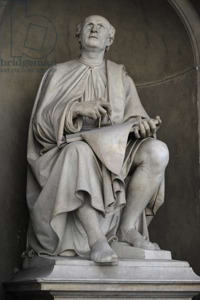 Filippo Brunelleschi (1377-1446). Statue.