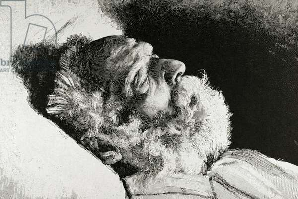 Victor Hugo (1802-1885). French poet, novelist, and dramatist to the Romantic movement. Engraving.
