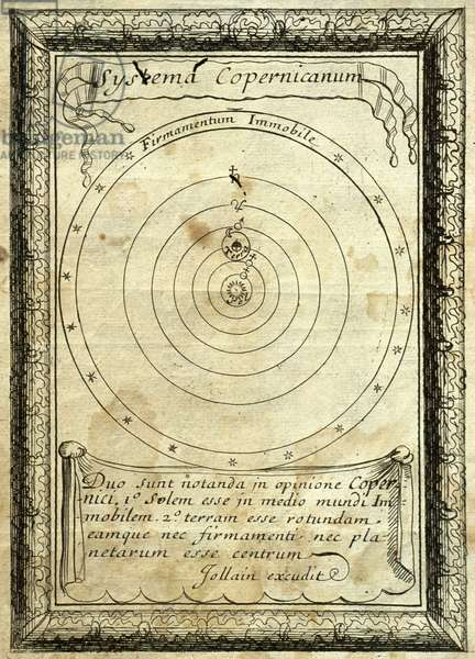 Nicolas Copernicus (1473-1543). Orbes Celestes. Engraving, 1667.