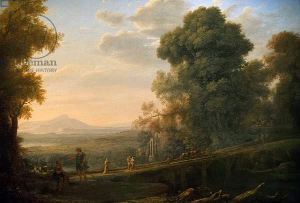 Landscape with Rebekah Taking Leave of her Father, c.1640