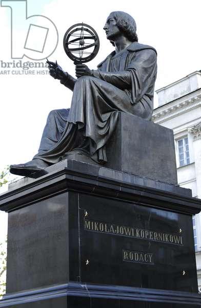 Statue of Nicolaus Copernicus (1473-1543) by Thorvaldsen (1770-1844). Warsaw.
