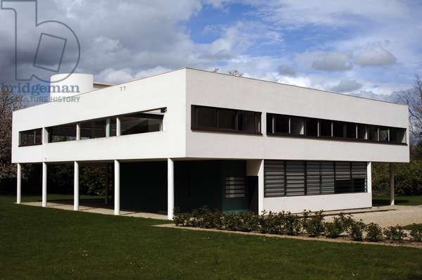 France. Poissy. Villa Savoye. Designed by Swiss architects Le Corbusier. 1928-1931.