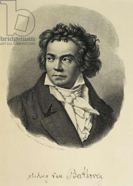 Ludwing van Beethoven (1770-1827). Portrait (engraving)