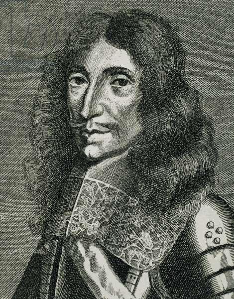 Charles I Louis, Elector Palatine (1617-1680). Engraving, 1663. Portrait.