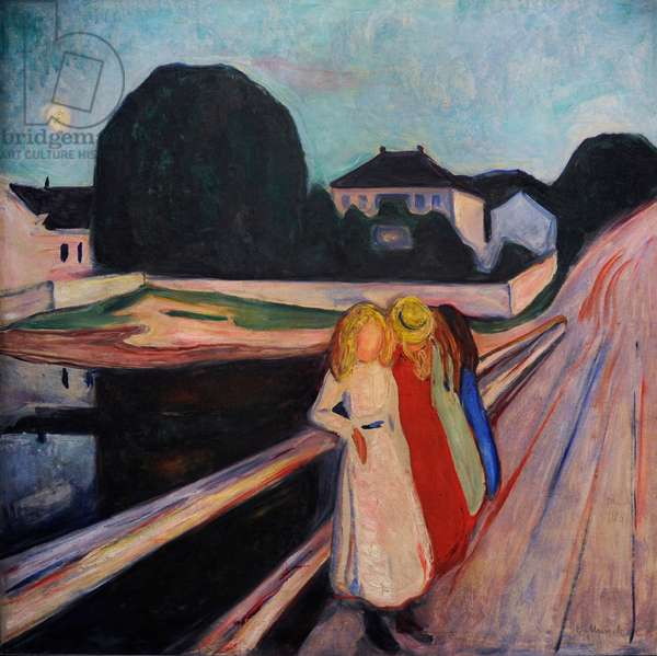 Four Girls on the Bridge, 1905, by Edvard Munch (1863-1944).