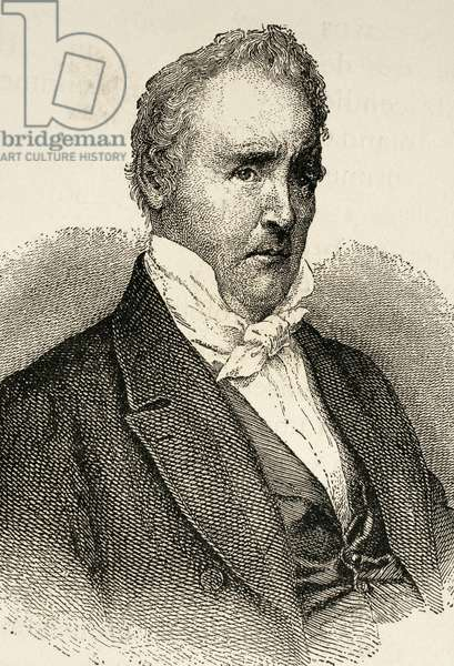 James Buchanan (1791-1868). Engraving.