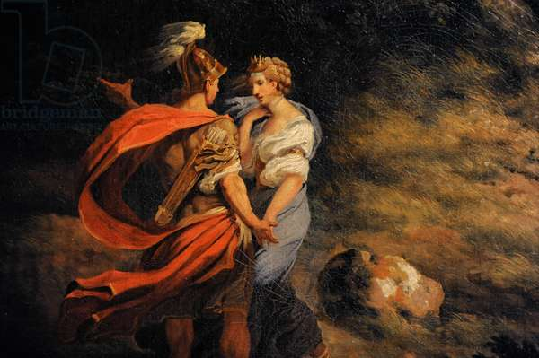Landscape with Dido and Aeneas (Storm), detail, 1769