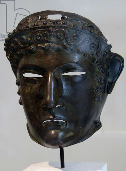 Roman Art. Bronze mask. 2nd century.