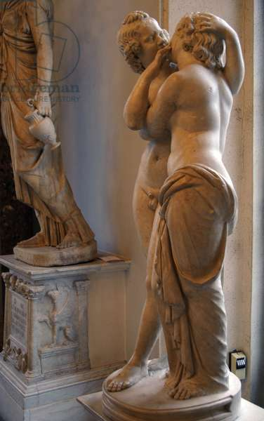 Roman Art. Statue of Cupid and Psyche. Marble. Copy. Capitoline Museums. Rome. Italy.