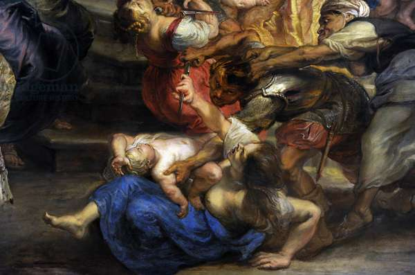 Peter Paul Rubens (1577-1640).  Massacre of the Innocents, 1635-40. Detail.