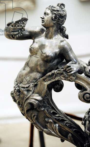 Detail of a bacchante, wine cooler, 1734-35 (silver)