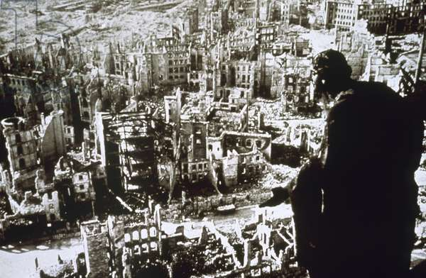World War II. Dresden destroyed by bombing.