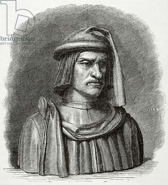 Lorenzo de Medici (1449-1492) (engraving)