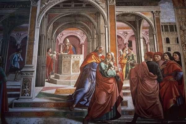Domenico Ghirlandaio (1449 –1494). Expulsion of Joachim from the Temple. Tornabuoni Chapel. Santa Maria Novella, Florence.