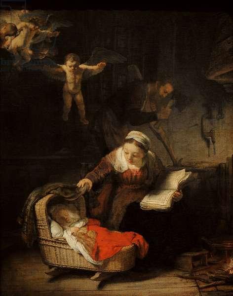 Rembrandt Harmenszoon van Rijn (1606-1669). Holy Family, 1645.